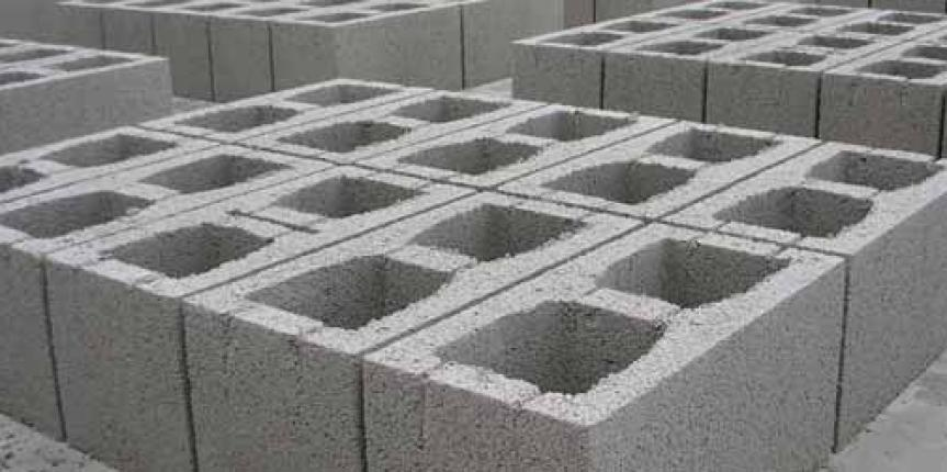 Precast cement concrete blocks construction civilarc for Cinder block house construction