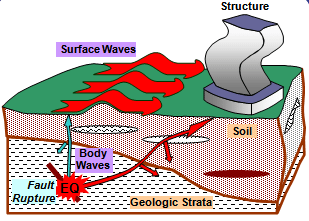 Arrival of Seismic Waves at a Site